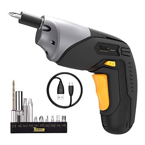 TECCPO - Atornillador y desatornillador Inalámbrico