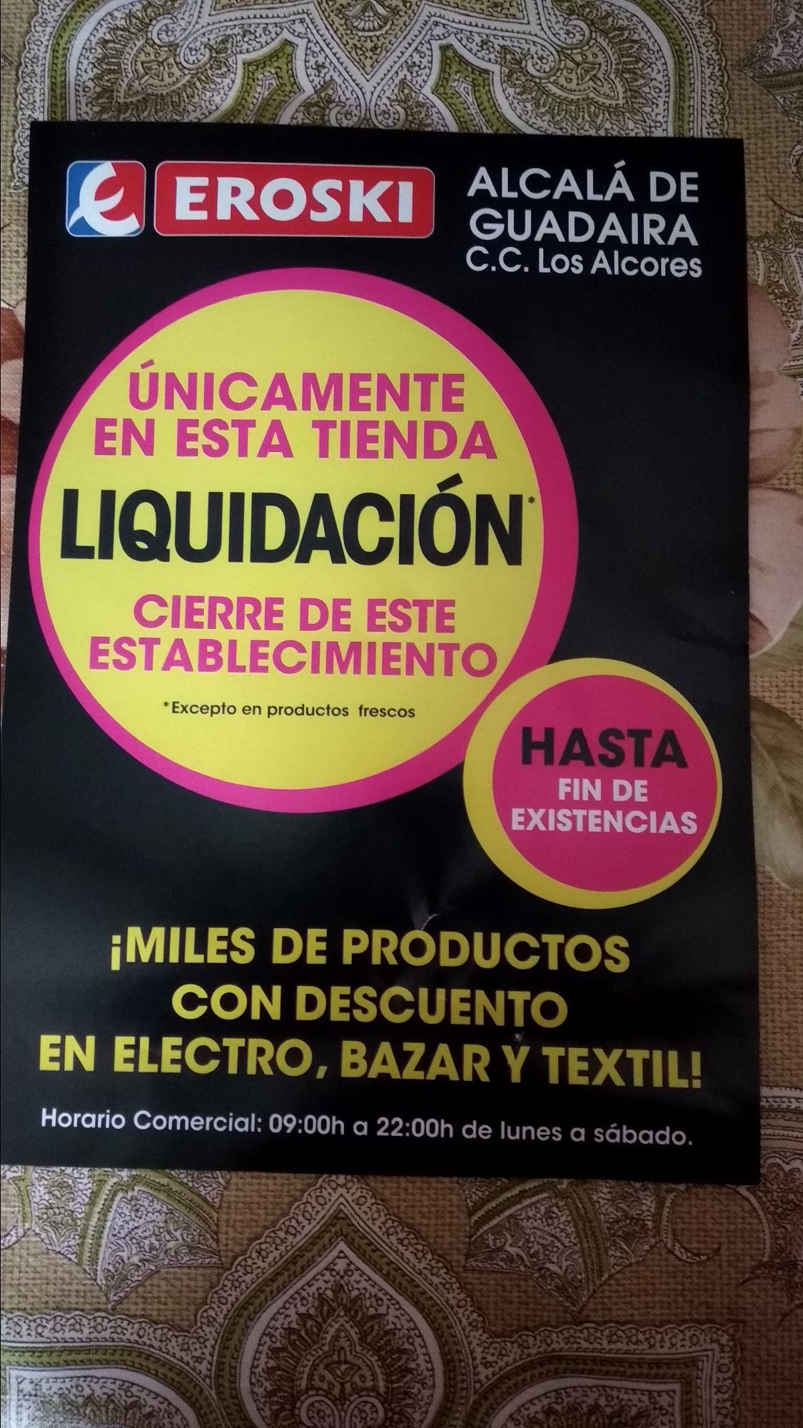 Liquidación por cierre Eroski Alcalá de Guadaira