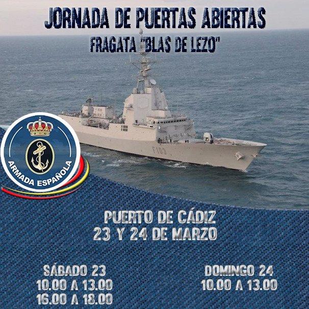 Fragata Blas de Lezo Jornada de Puertas Abiertas en Cádiz