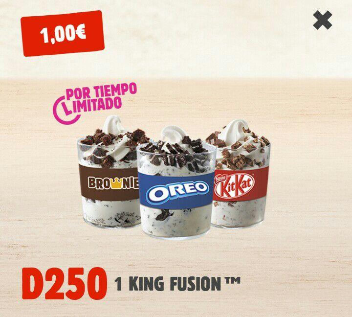 King Fusion a 1€ - Burger King
