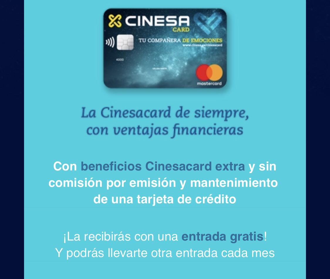 Tarjeta Cinesacard y entrada cine de regalo
