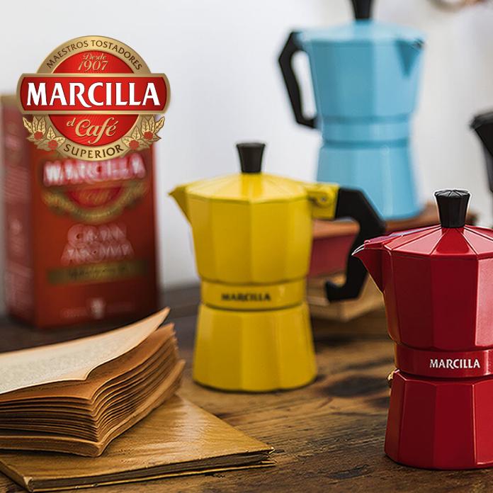 Cafetera Marcilla GRATIS al comprar 4 productos marca Marcilla