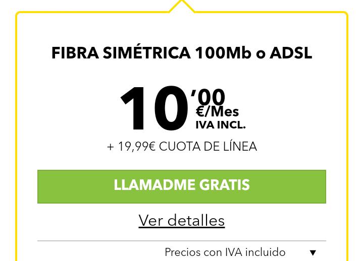 MásMóvil rebaja el acceso a la fibra, ahora por 29,99 euros con precio definitivo