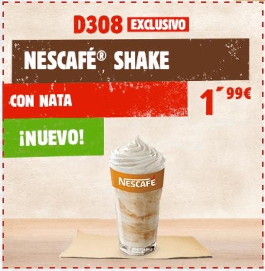 Nescafé Shake con nata por 1,99€