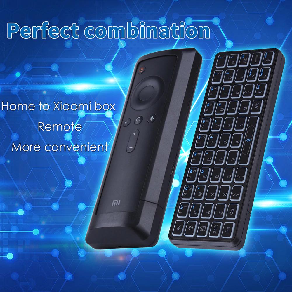 iPazzport KP - 810 - 73 Mini teclado inalámbrico Bluetooth 53 teclas para Xiaomi TV Box - Negro