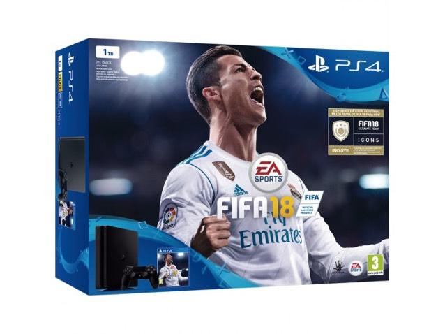 PS4 Slim (Chasis D) 1TB + FIFA 18 + PS Plus 14 días