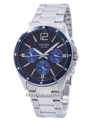 Casio Enticer cuarzo analógico MTP-1374D-2AV MTP1374D-2AV reloj de Men