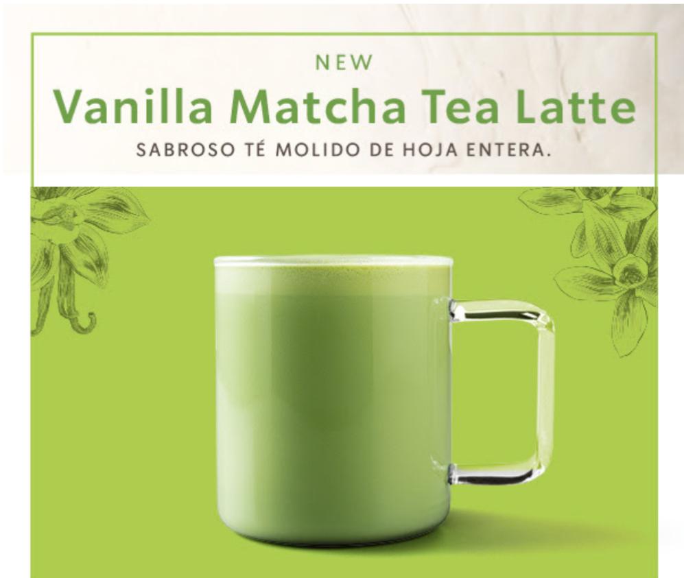 [Starbucks] Vanilla Matcha Tea Latte GRATIS por ser Socio Platino