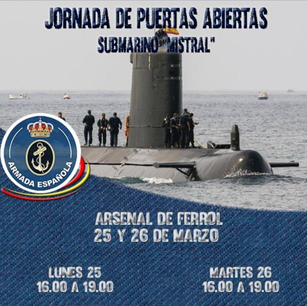 Jornada Puertas Abiertas al Submarino Mistral en Ferrol