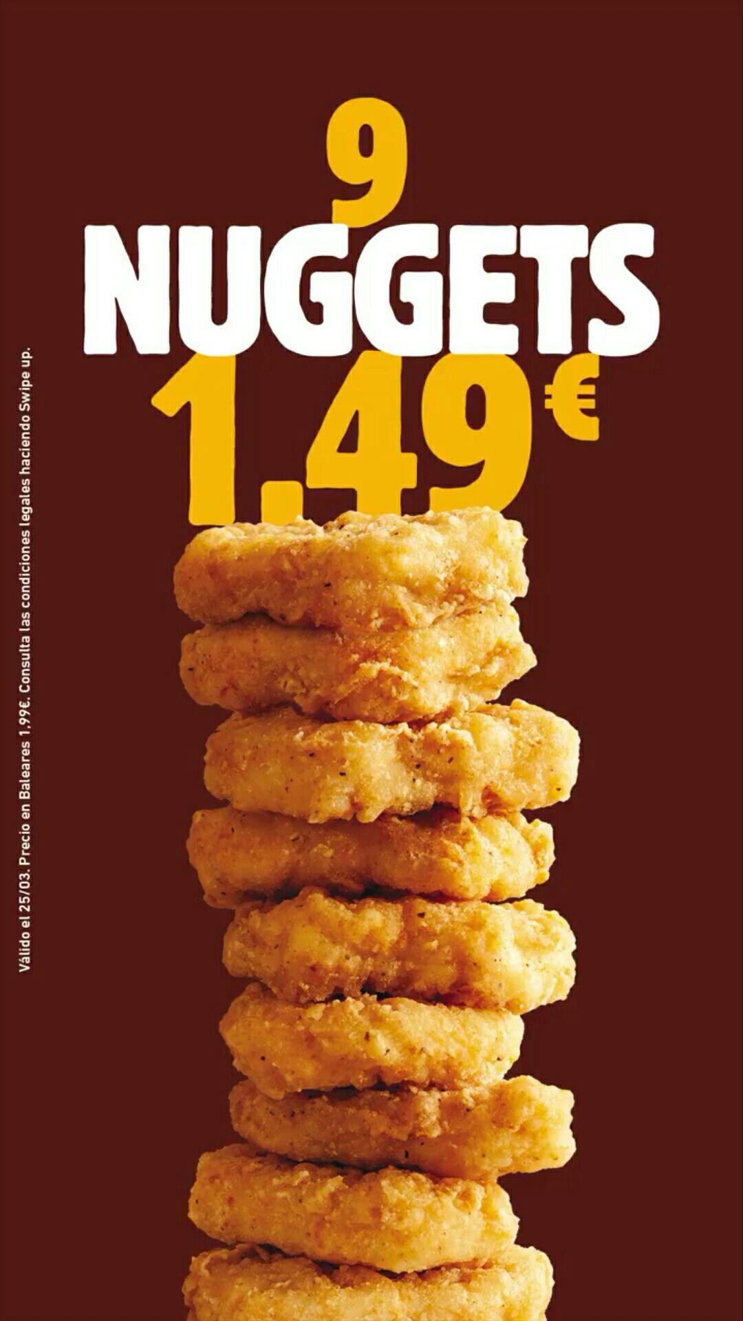 9 nuggets por 1,49€ en Burger King