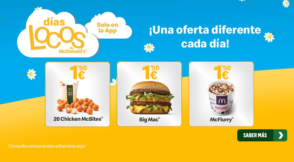 MENÚ BIG MAC O MAC POLLO 3,90 (26 DE MARZO, 3 y 9 DE ABRIL)