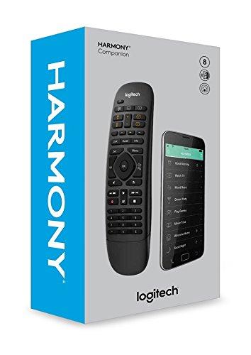 Logitech Harmony Companion - Mando a distancia todo en uno para dispositivos de hogar inteligente