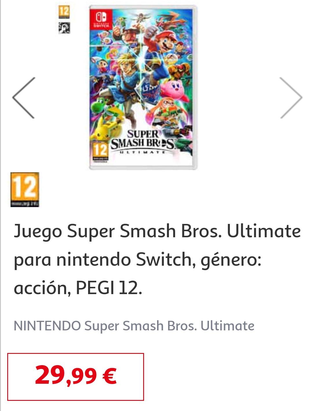 Super Smash Bros Ultimate para Switch en Alcampo Toledo