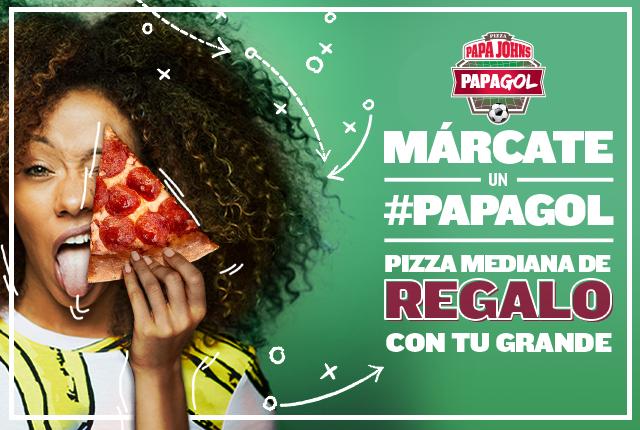 """Pizza grande y mediana todo por 13,95 a domicilio en  """"Papa Johns"""""""