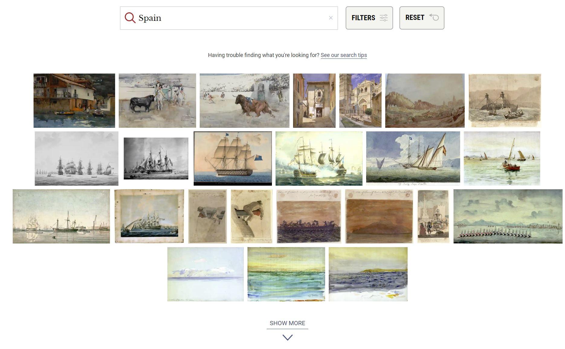 The Watercolour World, 80.000 pinturas históricas de acuarela antes de la fotografía