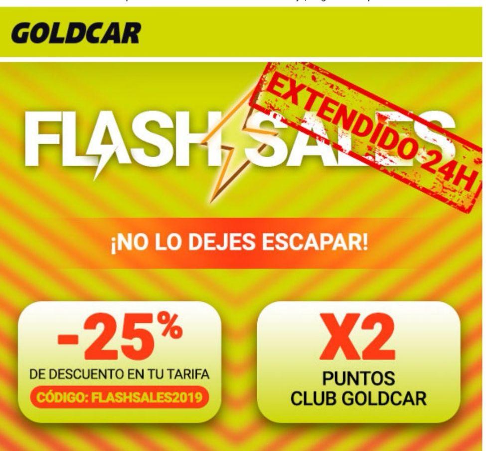 25% Descuento GoldCar