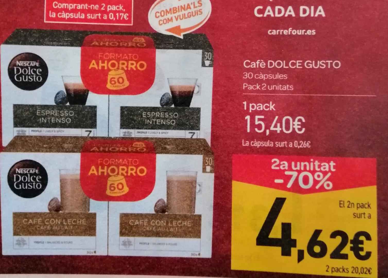 Chollazo 120 Cápsulas Dolce Gusto por 20€