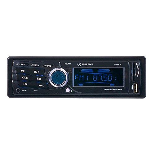 Bass Face SD200.1 - Radio para coches (de 240W, para iPod/USB/tarjeta SD