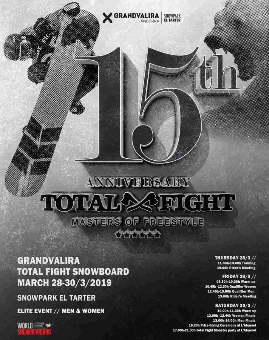Grandvalira Total Fight Snowboard y Freeski 2019: Acceso gratis a la gradas