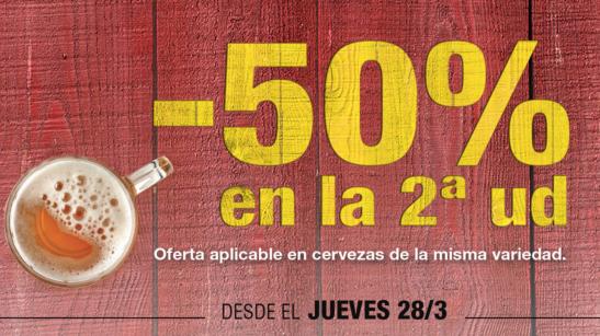 Desde el jueves 28/03 la segunda unidad de cerveza al 50% en Lidl