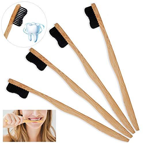 Pack de 4 cepillos de bambú