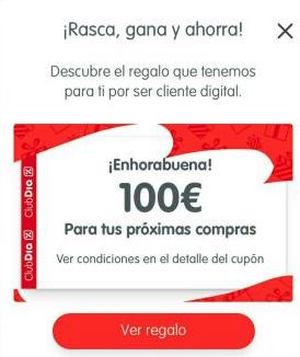 Rasca y gana en DIA (5€, 50€, 100€)