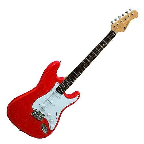 Guitarra eléctrica DIMAVERY ST-203 roja