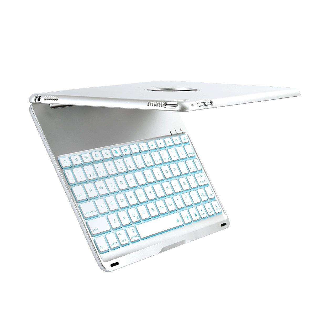iEGrow - Teclado para iPad Pro 9.7 con Bluetooth y retroiluminación LED