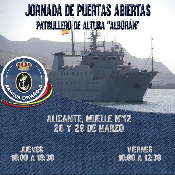 Jornada de Puertas Abiertas Buque Patrullero Alborán en Alicante