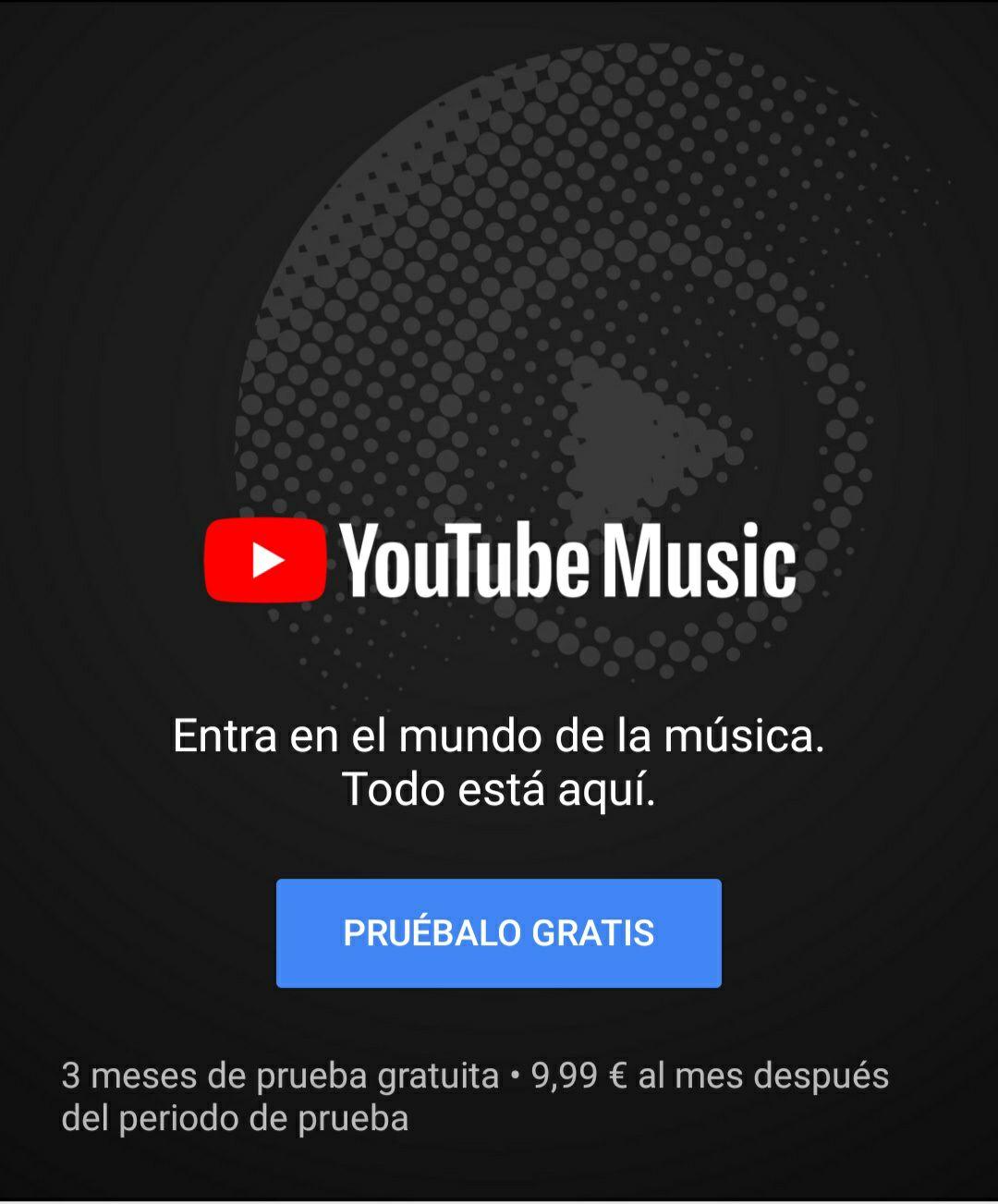 3 meses gratis con YouTube Music - (Nuevos usuarios)