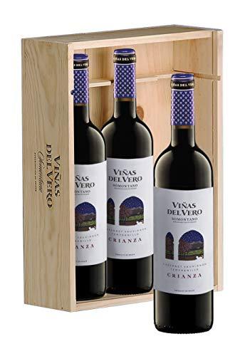 Viñas del Vero Crianza D.O Somontano Vino Tinto - Pack de 3 Botellas x 750 ml - Total: 2.25 l