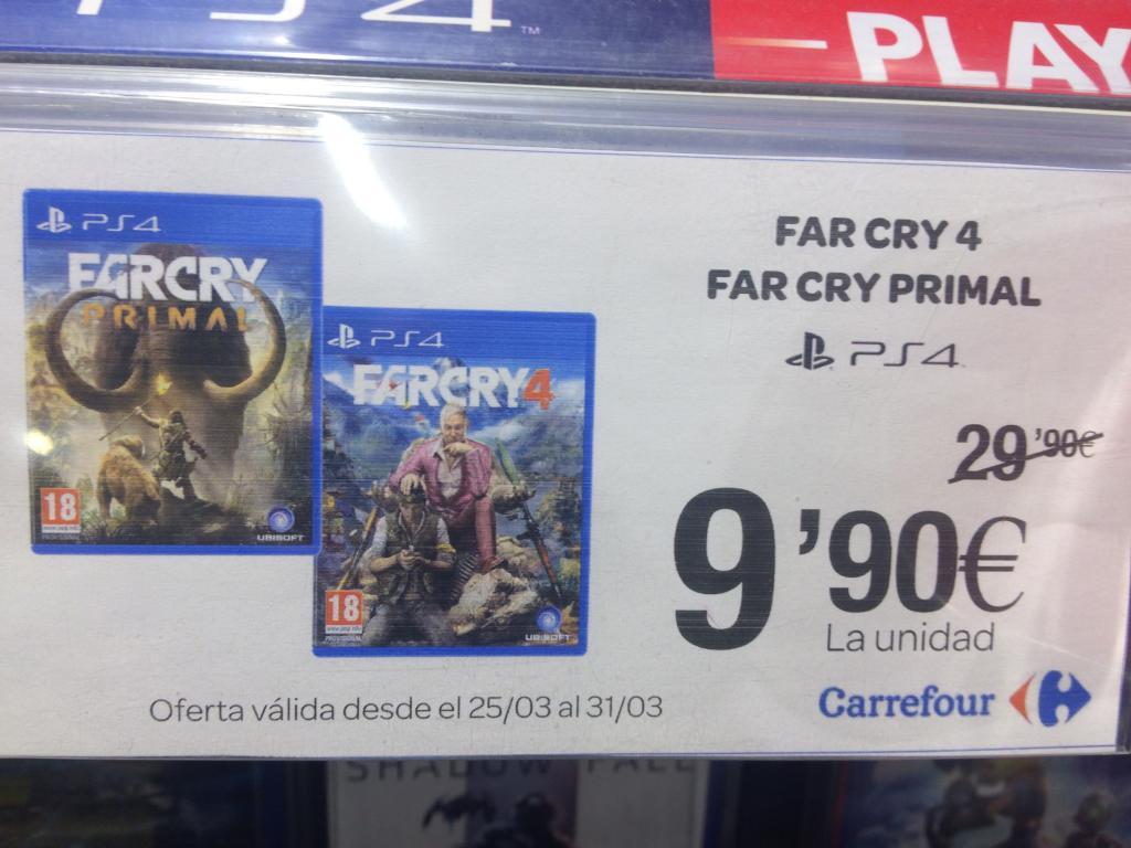 Juegos PS4 carrefour de 29,90 a 9,90
