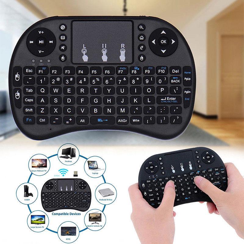 Mini teclado Touchpad 2,4GHz PC Smart TV
