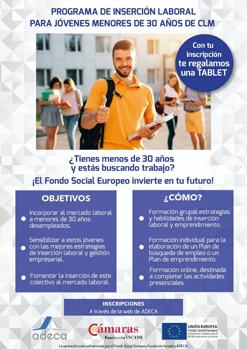 Tablet gratis desempleados -30 años (Castilla La Mancha)