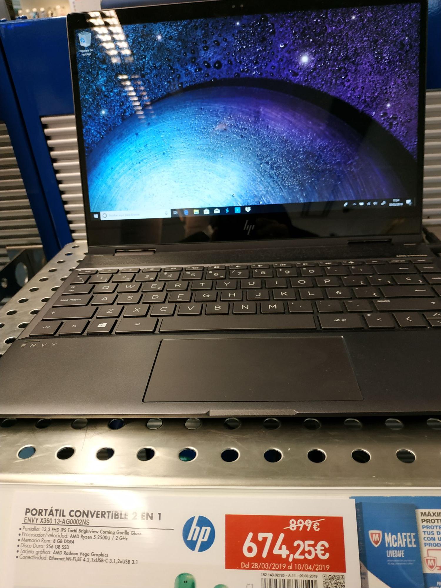 Convertible HP Envy x360 13-ag0002ns, AMD Ryzen 5, 8 GB, 256 GB SSD, AMD Radeon Vega 8 + regalo impresora wifi modelo HP officejet 3831