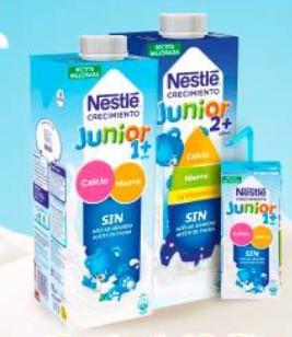 Nestlé Junior Crecimiento: 6 bricks Nestlé crecimiento 1 L. + 3 lotes de 6 bricks de 200ml. + 3 medidores + 3 folletos (GRATIS)