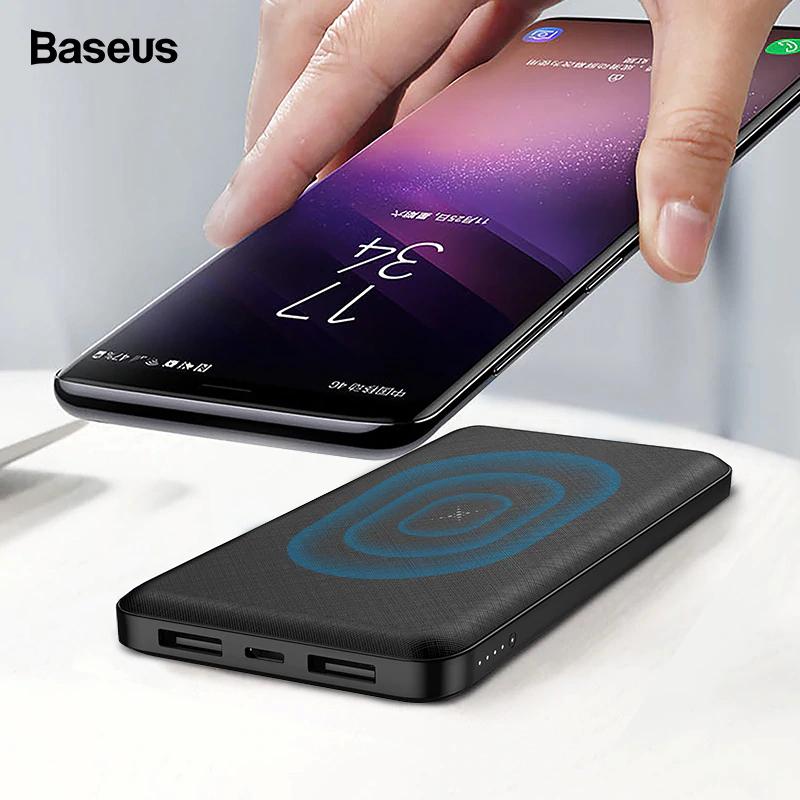 Batería externa inalámbrica Baseus 10000 mAh 2 EN 1.