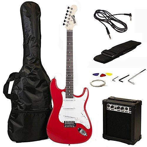 Guitarra eléctrica Rock Jam color rojo