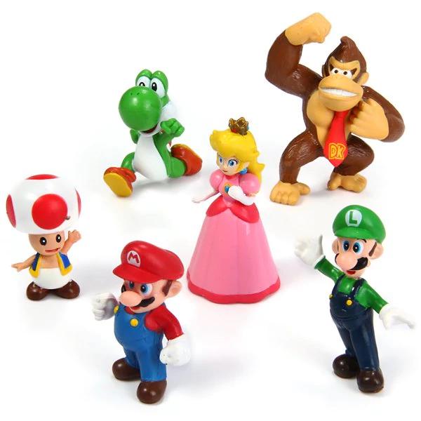 Set 6 Figuras Super Mario Bros