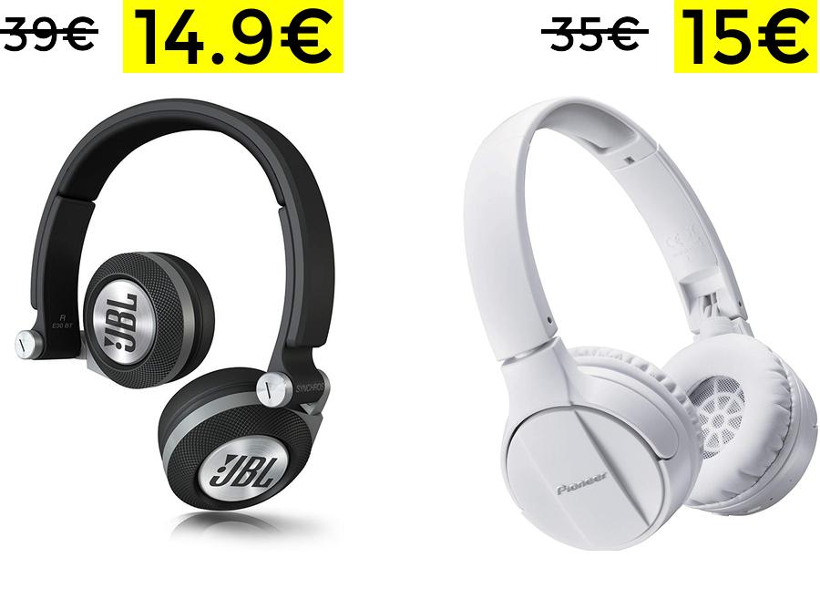 Auriculares JBL Synchros E30 solo 14.9€