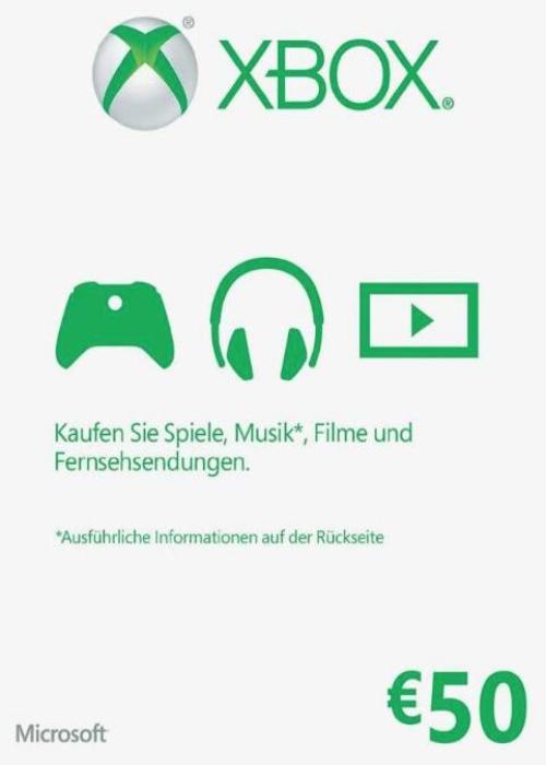 XBOX: GIFT CARD DE 50€ POR 41,99€