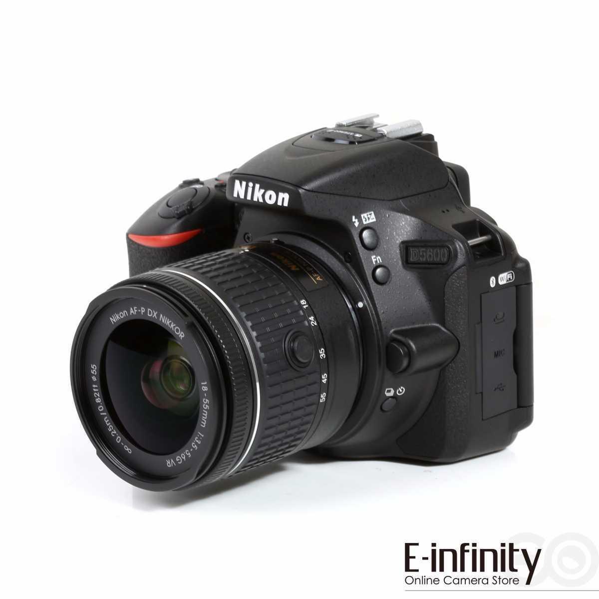 Nikon D5600 Digital SLR + AF-P DX Nikkor 18-55mm f/3.5-5.6G VR