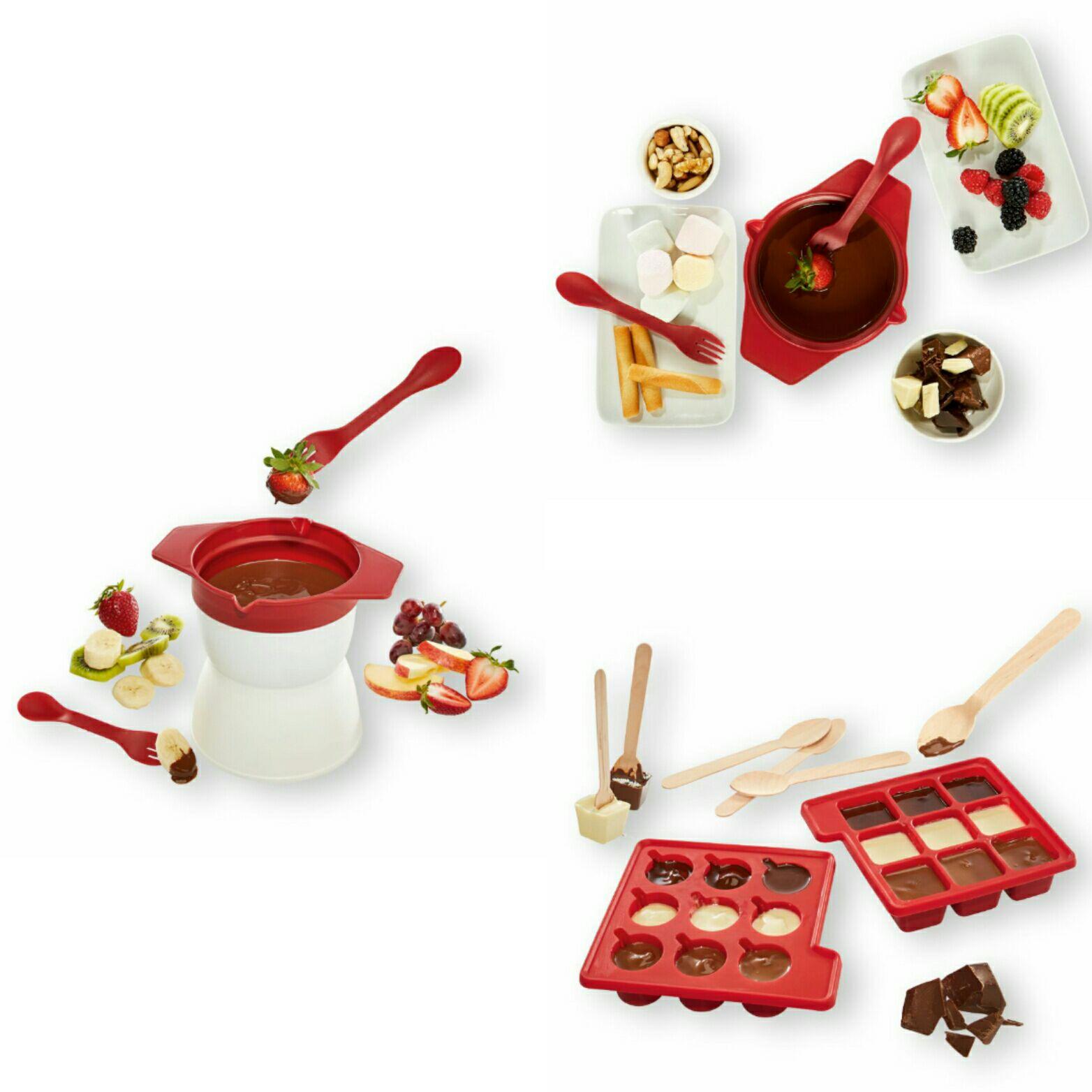 Moldes de silicona para bombones | Set de fondue de chocolate 400 ml
