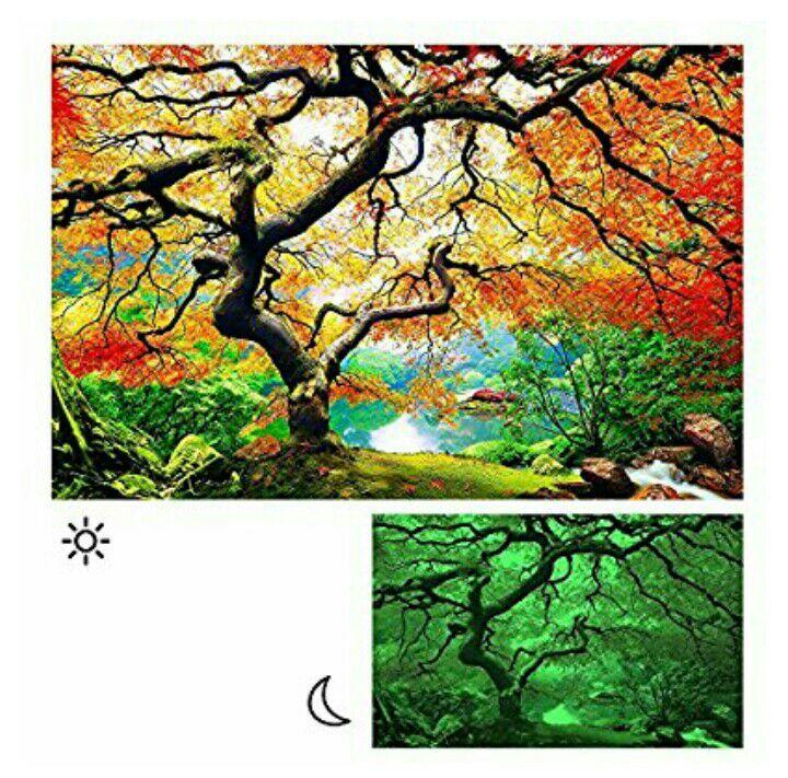 Cuadro árbol, visión nocturna incluido