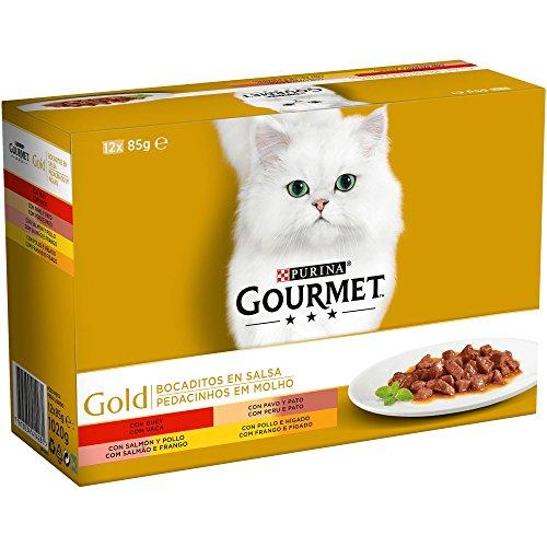 Purina Gourmet Gold Bocaditos en Salsa comida para gatos en latas 8 x [12 x 85 g]