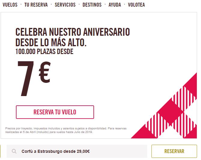 Volotea celebra su cumpleaños con vuelos a 7 euros