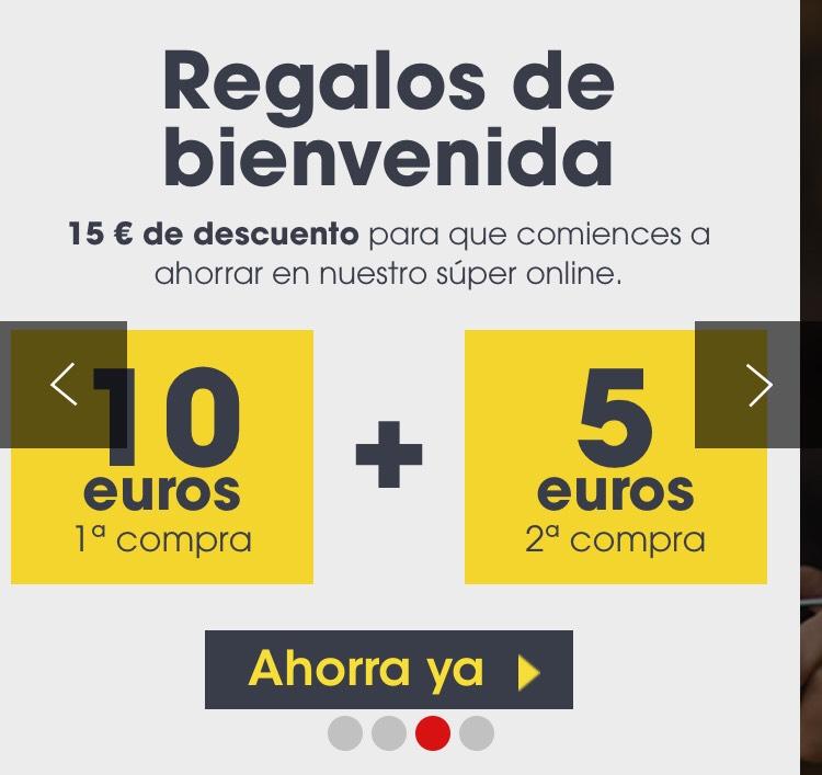 10€ de descuento en primera compra eroski online