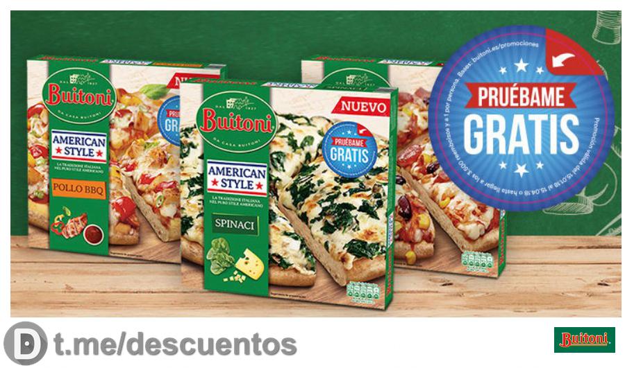Pizza Buitoni Masa gruesa GRATIS