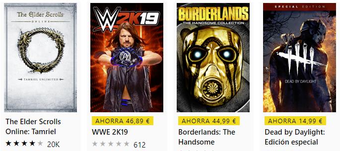 Juega Gratis fin de semana juegos como  WWE 2019, Borderlands y otros