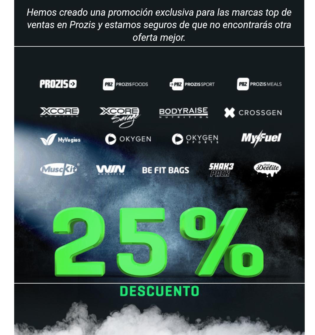 PROZIS: 25% descuento en marcas selecionadas